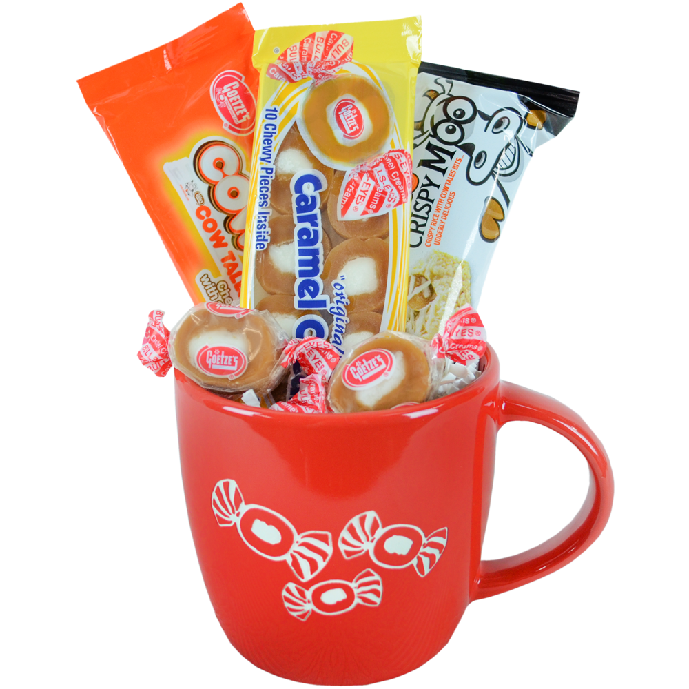 Candy Holiday Christmas Gifts: Caramel Creams Collectors Etched Coffee Hot Chocolate Gift Mug Stocking Stuffers