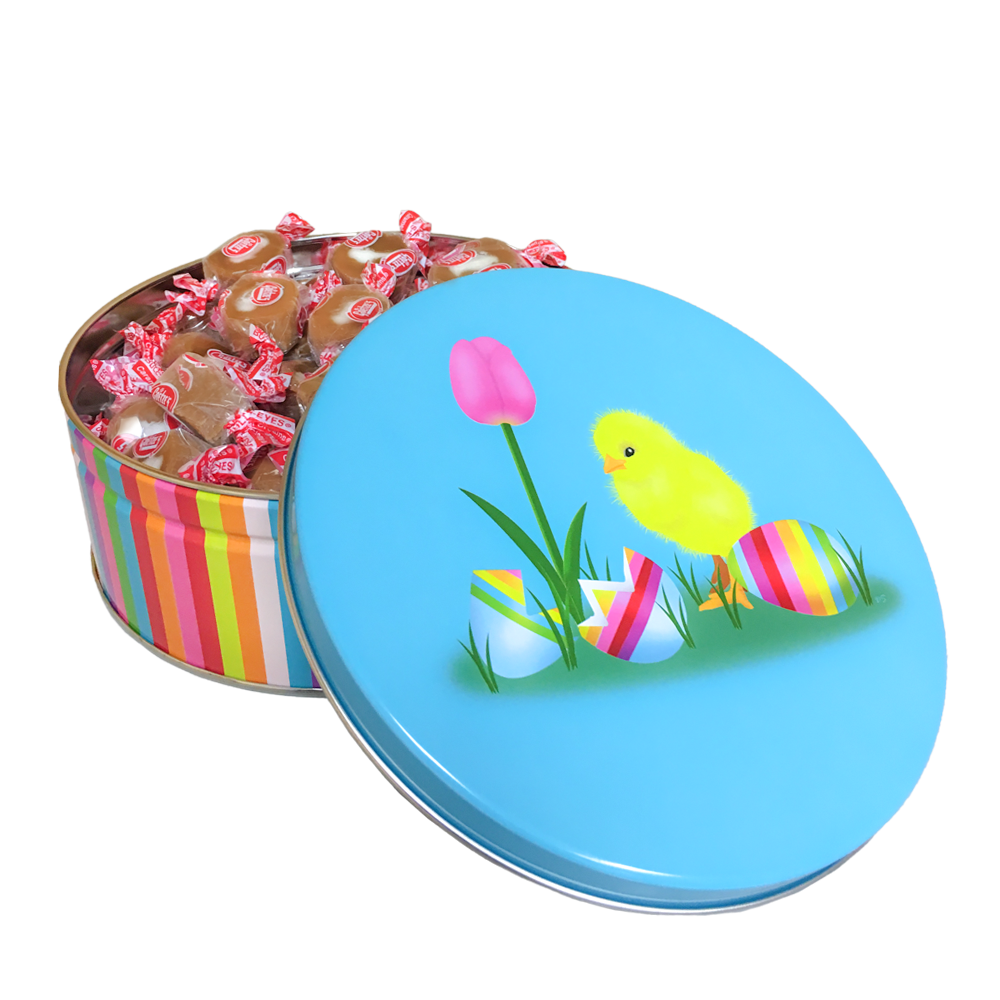 Easter Gifts: Goetze's Caramel Creams Easter Chick Candy Tin
