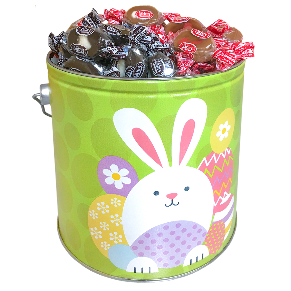 Easter Gifts: Goetze's Caramel Creams Easter Egg Bunny Candy Tin