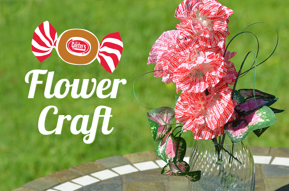 How to make candy wrapper flower bouquet. Great recycle craft for the kids!